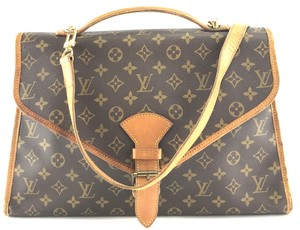 Louis Vuitton Beverly Briefcase Lv Shoulder Bag. Louis Vuitton Beverly   27633 with Strap Large Two Way Satchel Briefcase Monogram Coated Canvas ... 2dadbc6c2e1e8