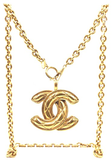 Preload https://img-static.tradesy.com/item/24980759/chanel-28002-gold-rare-xxl-extra-huge-large-cc-timeless-quilted-long-chain-necklace-0-1-540-540.jpg
