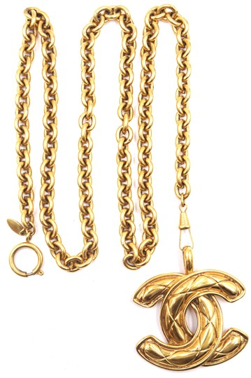 Chanel Rare XXL Extra huge Large CC Timeless Quilted Long gold chain necklace