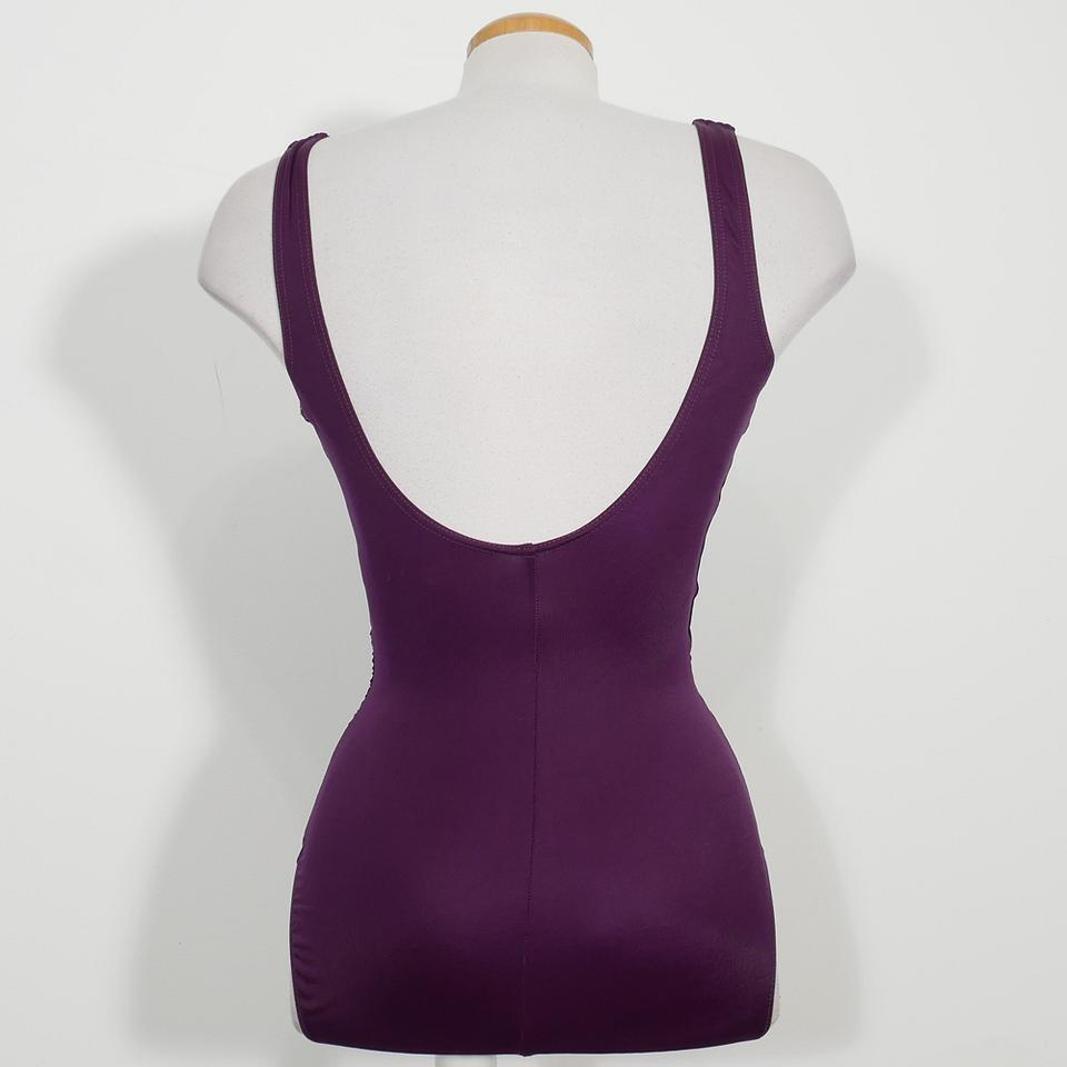 b1bf98548 Miraclesuit Plum Purple Wraptress Molded Cup Tummy Control Swimsuit ...
