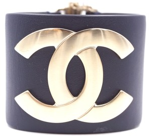 Chanel Ultra Rare Wide CC runway logo Glide Lock Cuff Bracelet Bangle