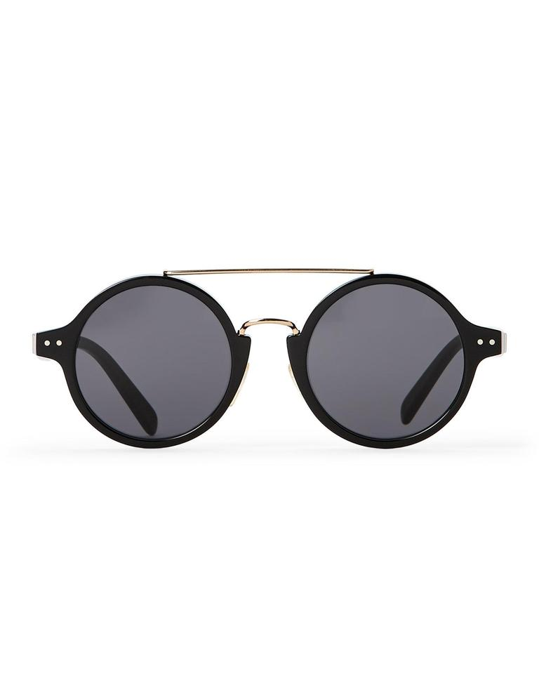 548fdaddc3e Céline NEW Celine CL 41442 S Black Round Gold Metal Sunglasses Image 0 ...