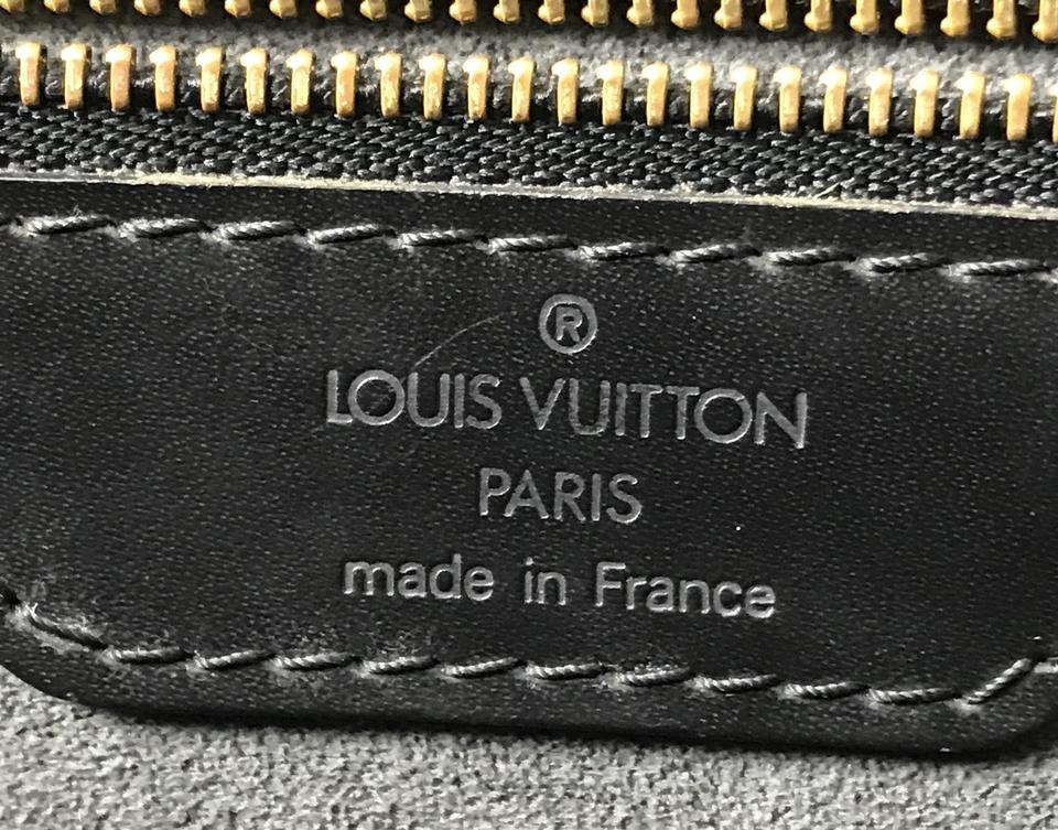 Louis Vuitton  27851 Large Jacques Gm Tote Lv Logo Epi Black Leather  Shoulder Bag - Tradesy a7fcbb14f400a