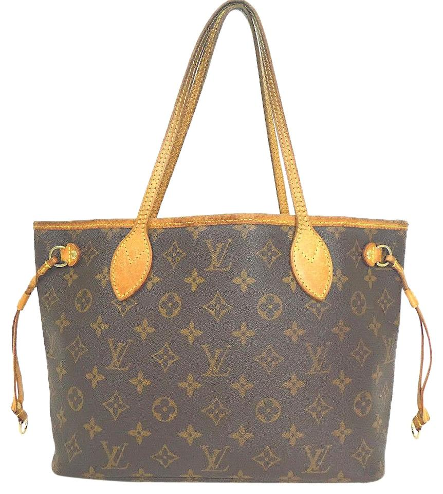 be3710f8765d Louis Vuitton Neverfull Pm 304l2355 Brown Coated Canvas Tote - Tradesy