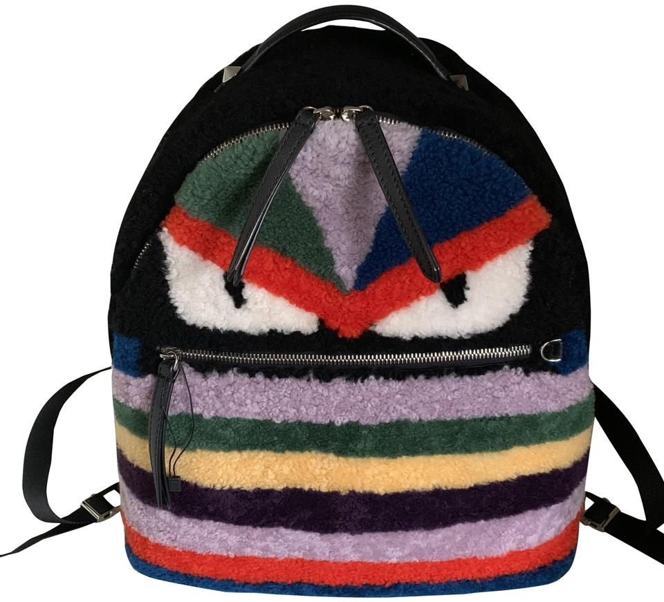 9623411d2ed9 Fendi Shearling Rainbow Sheepskin Leather Backpack - Tradesy