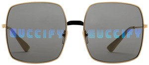 Gucci NEW Gucci GG0414S Guccify Mirrored Oversized Square Sunglasses
