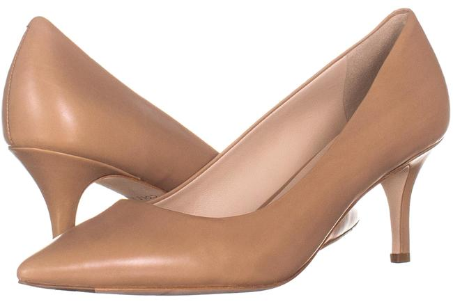 Item - Beige Vest Kitten Heel Pumps 977 Nude Leather Platforms Size US 7.5 Regular (M, B)