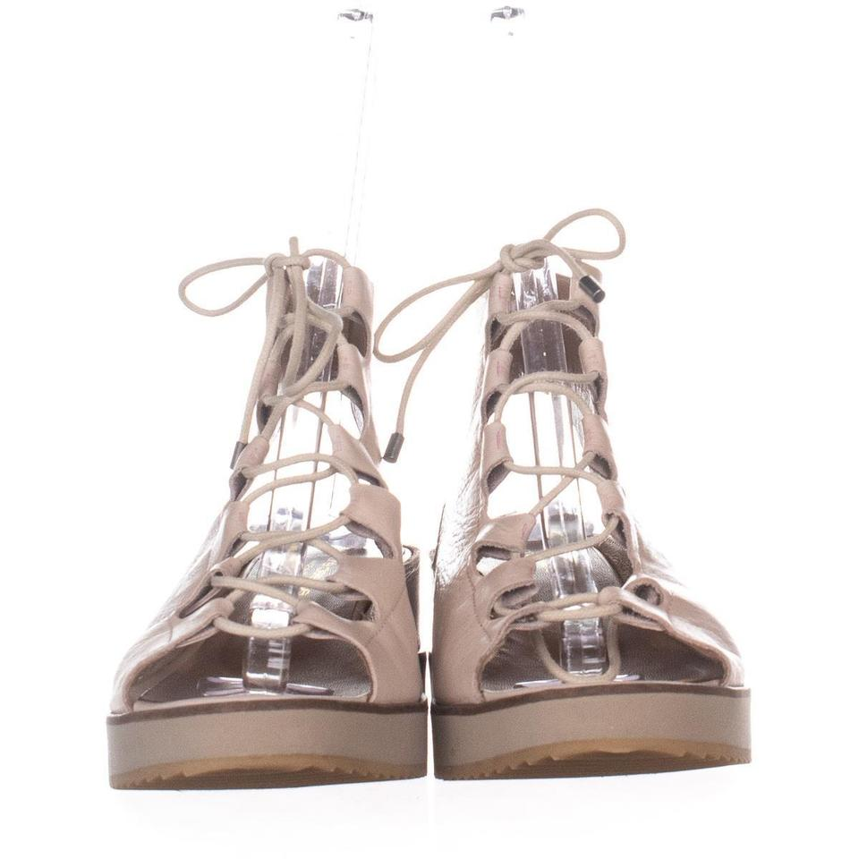 b0963e5a94f1 Andre Assous Beige Tamsin Lace-up Sandals 007 Cream Platforms Size ...