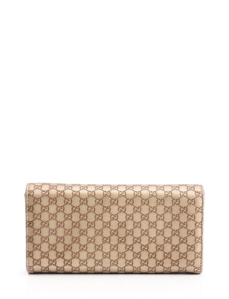 7961bb4cc21 Gucci Chain Wallet Guccissima 317g1132 Brown Gold Leather Clutch - Tradesy