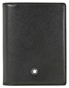 Montblanc Meisterstuck Cowhide Leather Jacquard Lining Multi CCS Unisex Wallet