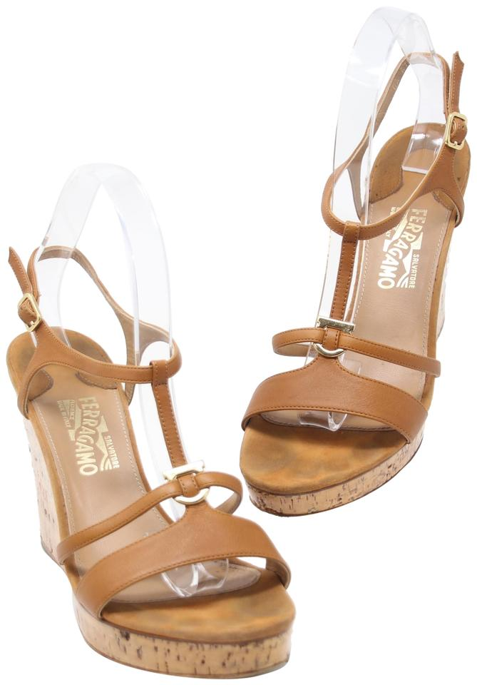 4c0cdca6722 Salvatore Ferragamo Summer Vacation Vacay Gucci Tom Ford Brown Wedges Image  0 ...