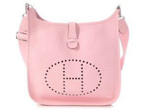 85e006a9d Hermès Rose H Perforated Hr.q0129.05 Reduced Price Cross Body Bag