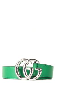 Gucci GUCCI Green Leather Children's GG Belt NWT