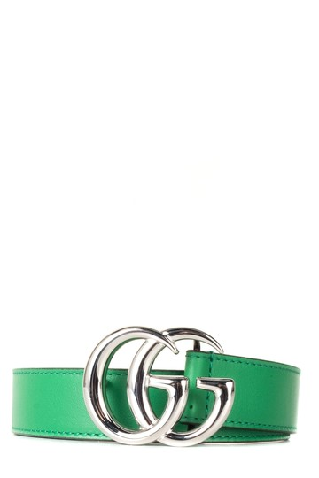 Gucci GUCCI Green Leather Children's GG Belt NWT Image 0