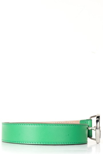 Gucci GUCCI Green Leather Children's GG Belt NWT Image 1