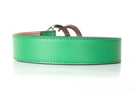 Gucci GUCCI Green Leather Children's GG Belt NWT Image 2