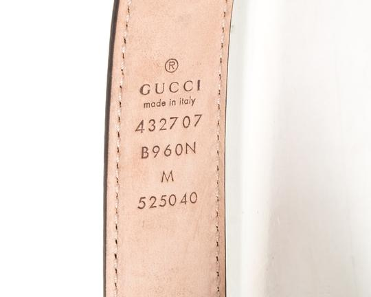 Gucci GUCCI Green Leather Children's GG Belt NWT Image 3