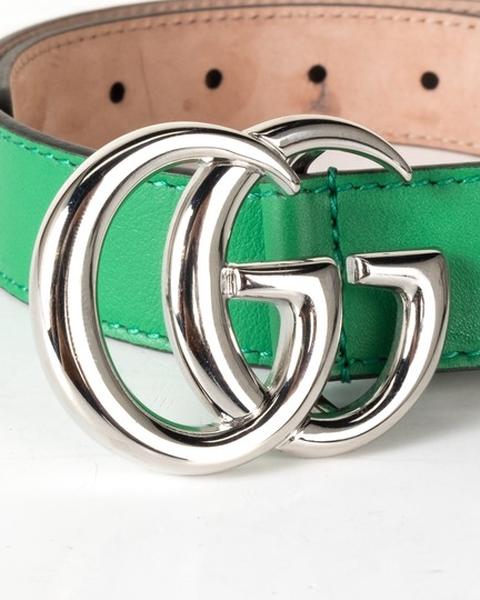 Gucci GUCCI Green Leather Children's GG Belt NWT Image 5