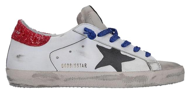 Item - White & Red Superstar Glitter Leather Sneakers Size EU 38 (Approx. US 8) Regular (M, B)