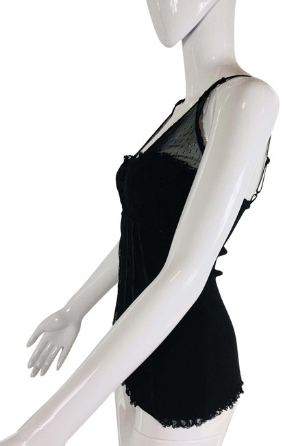 Item - Black Lace and Sateen Cotton Camisole Tank Top/Cami Size 8 (M)