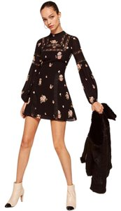 Reformation short dress Black Floral Lace on Tradesy
