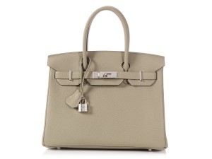 8661942f8c Hermès Green Light Green New Hr.q0124.16 Reduced Price Satchel in Gray