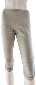 Moda International Pant Cropped Knee Length Stretchy Heather grey Leggings