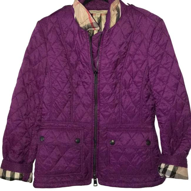 Item - Purple Brit Quilted Jacket Size 12 (L)