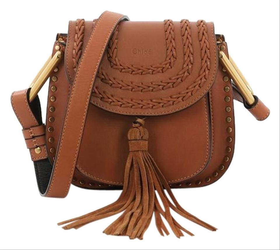 fdbee8a2bb98 Chloé Hudson Handbag Whipstitch Mini Brown Leather Cross Body Bag ...