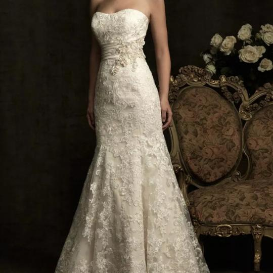 Preload https://img-static.tradesy.com/item/24982575/allure-bridals-ivory-champagne-lace-8917-sexy-wedding-dress-size-12-l-0-0-540-540.jpg