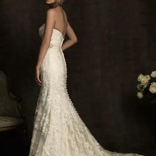 Allure Bridals Ivory / Champagne Lace 8917 Sexy Wedding Dress Size 12 (L) Image 1