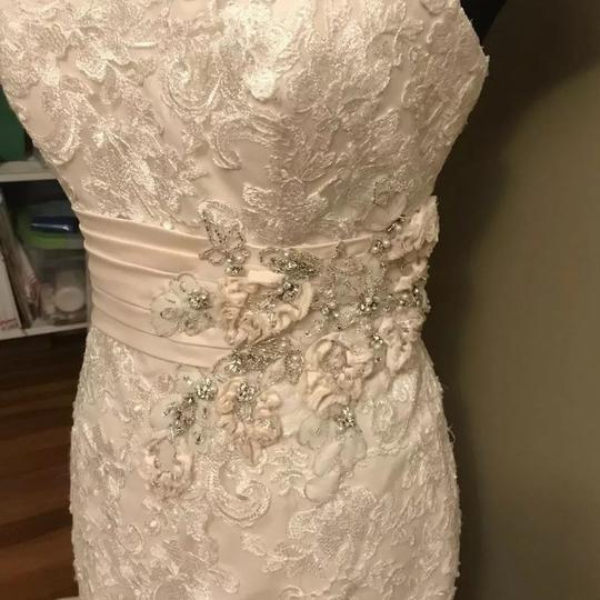 Allure Bridals Ivory / Champagne Lace 8917 Sexy Wedding Dress Size 12 (L) Image 3