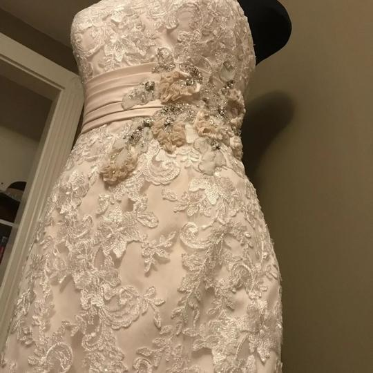 Allure Bridals Ivory / Champagne Lace 8917 Sexy Wedding Dress Size 12 (L) Image 4