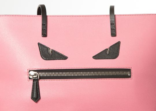41d0315a6c71 Fendi 2016 Medium Monster Roll Pink Leather Tote - Tradesy