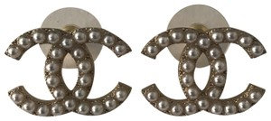 Chanel Chanel Pearl CC Studs Earrings