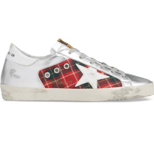 Golden Goose Deluxe Brand silver and red Athletic Image 2
