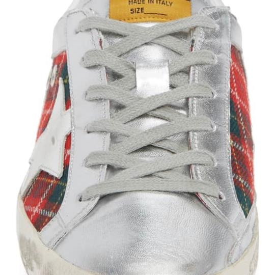 Golden Goose Deluxe Brand silver and red Athletic Image 3