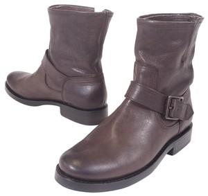 Frye Natalie Leather Ankle Grey Boots