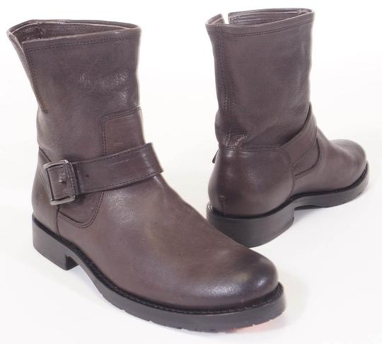 Frye Natalie Leather Ankle Grey Boots Image 1