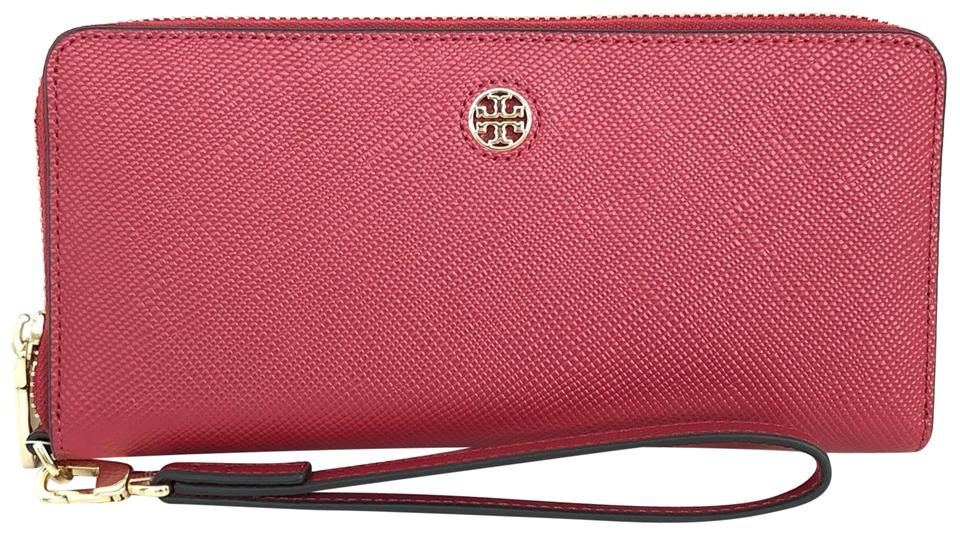 391add7c38a Tory Burch Kir Royale Red Perry Zip Passport Continental Wallet ...