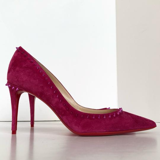 Christian Louboutin Spike Red Bottom Sexy Party Loulou Pink Pumps Image 4