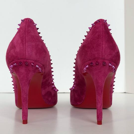 Christian Louboutin Spike Red Bottom Sexy Party Loulou Pink Pumps Image 5