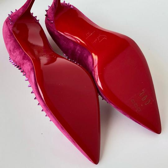 Christian Louboutin Spike Red Bottom Sexy Party Loulou Pink Pumps Image 7