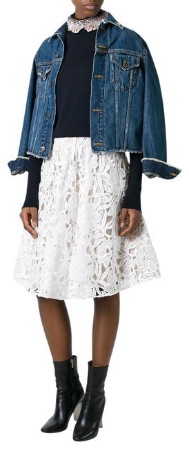 Item - White Women's Floral Lace New Skirt Size 2 (XS, 26)
