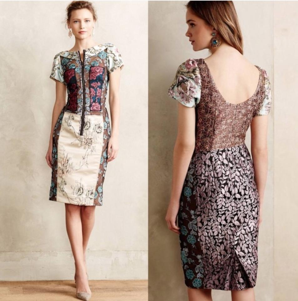 2622c74de01 Byron Lars Beauty Mark Multi-color Anthropologie Beguile Pieced Brocade  Cocktail Dress Size 0 (XS) - Tradesy