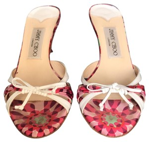Jimmy Choo Pink and White Sandals