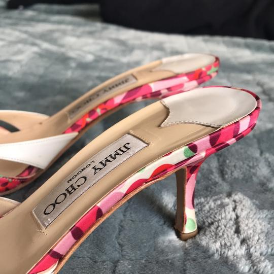 Jimmy Choo Pink and White Sandals Image 3
