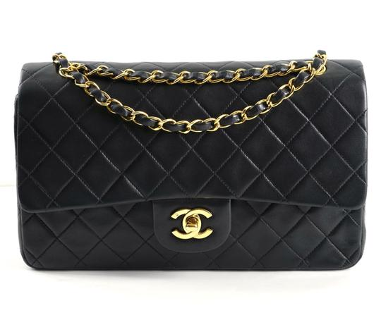 2b62dbbb29ae Chanel Classic Flap Medium Black Lambskin Leather Shoulder Bag - Tradesy