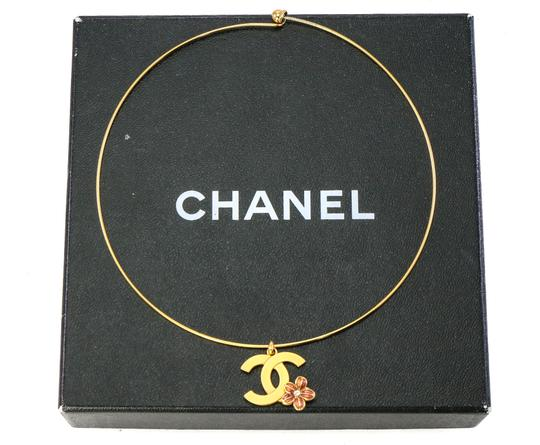 Chanel Chanel CC flower charm bangle necklace. Image 1