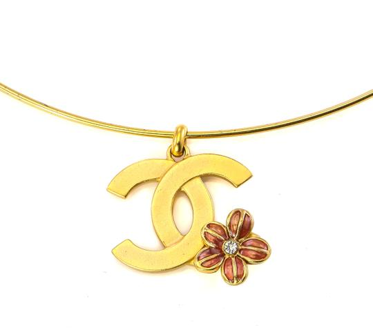 Chanel Chanel CC flower charm bangle necklace. Image 2